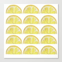 lemon Canvas Prints featuring Lemon by krrstnn