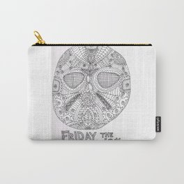 Hockey Mask Doodle Carry-All Pouch