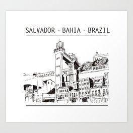 Salvador - Bahia - Brazil Art Print