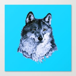 Season Of the Wolf - A Study in Sapphire1 Canvas Print