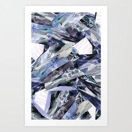 Ice Blue Crystalize Art Print