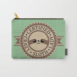 Certified Crazy Sloth Lady Carry-All Pouch