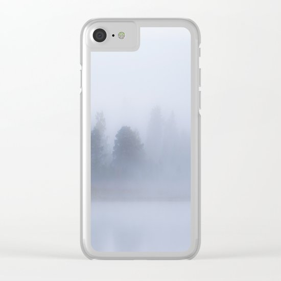 Autumn Foggy Morning Clear iPhone Case