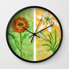 flowers 2 Wall Clock