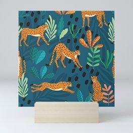Cheetah pattern 001 Mini Art Print