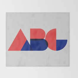 Geometric ABC Throw Blanket