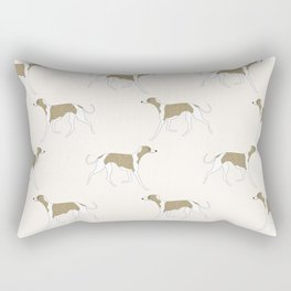 The Walking Whippet Rectangular Pillow