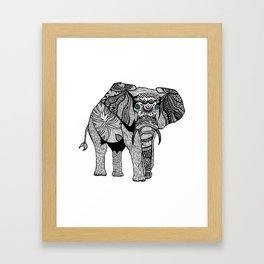 Elephant of Namibia (black & white) Framed Art Print