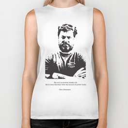 Ron Swanson - woodworker quote about the newborn Biker Tank