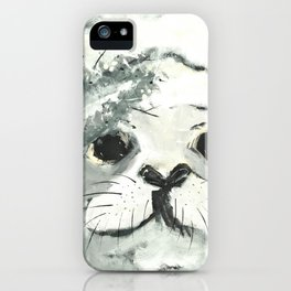 White Seal iPhone Case