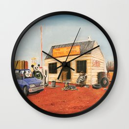 The Outback Petrol Station Wall Clock