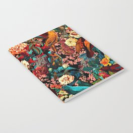 FLORAL AND BIRDS XVII Notebook