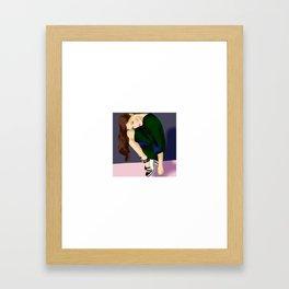 Fashion girl Framed Art Print
