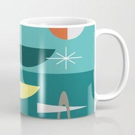 Turquoise Mid Century Modern Coffee Mug