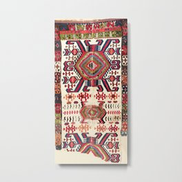 Hotamis Sivas Central Anatolian Kilim Fragment Print Metal Print