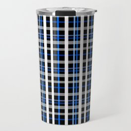 The checkered pattern . Travel Mug