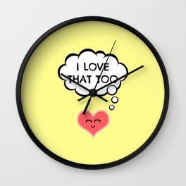 Kawaii wish heart Wall Clock