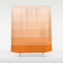Russet Orange Palette Shower Curtain