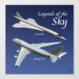 Legends of the Sky Canvas Print