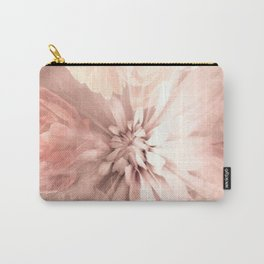 Floral Coral Abstract Flower Design Carry-All Pouch