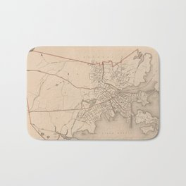 Vintage Map of Salem Massachusetts (1891) Bath Mat