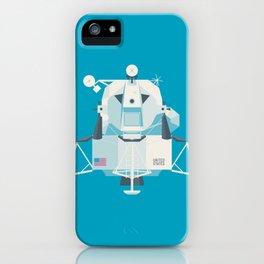 Apollo 11 Lunar Lander Module - Plain Cyan iPhone Case
