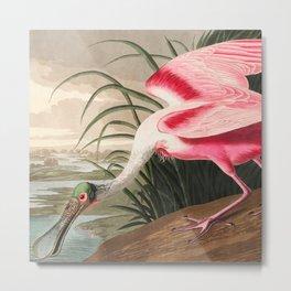 Tropical Exotic Fantasy Bird Landscape Metal Print