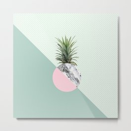 Fashion Pineapple I Metal Print