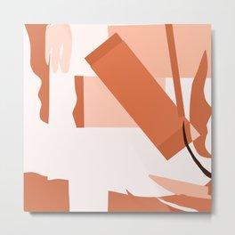 Matisse Inspired Orange Red Collage Metal Print