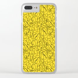 Wine (yellow) Clear iPhone Case