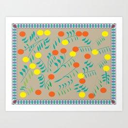 Lemon and Orange Garden Art Print