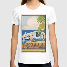 French Vintage Grand Prix poster T-shirt