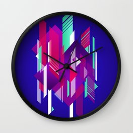 Shattered and Stained Wall Clock
