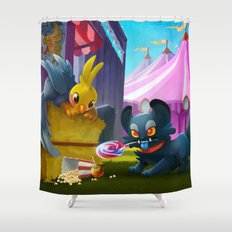 Grendel and Rivers Shower Curtain
