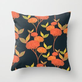 Orange autumn berries. Throw Pillow