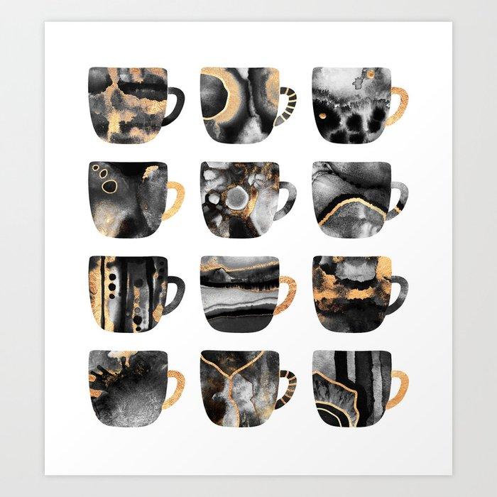My Favorite Coffee Cups 2 Art Print