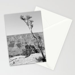 Little Tree on the Canyon V2 - Greyscale Stationery Cards