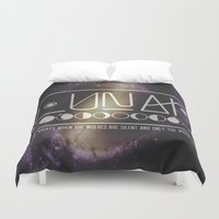 lunar Duvet Covers featuring Lunar by Nate Compton