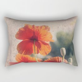 Red Poppies, Flowers Rectangular Pillow