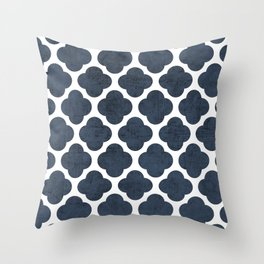 navy clover Throw Pillow