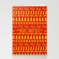 merry christmas Stationery Cards featuring Merry Christmas by Fimbis