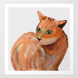 Katze,cat Art Print
