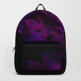 Ultra Violet Velvet Rose loves Black Backpack