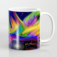 makeup Mugs featuring Galactic makeup by JT Digital Art