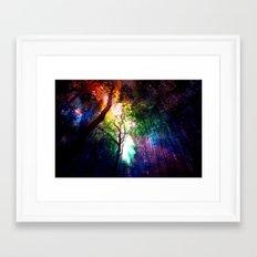 rainbow rain Framed Art Print