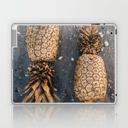 Gold Pineapple Print Laptop & iPad Skin