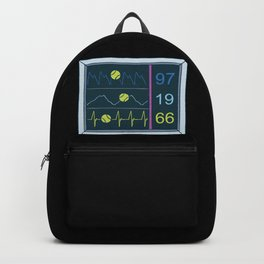 Tennis Heartbeat Injury Hospital Heart Rate Outfit Clothes EKG Pulse Line Gift Backpack