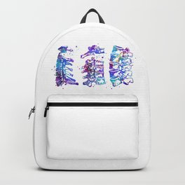 Cervical Thoracic Lumbar Vertebrae Spine Colorful Watercolor Gift Backpack