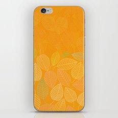 LEAVES ENSEMBLE ORANGE YELLOW iPhone & iPod Skin