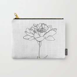 Botanical floral illustration line drawing - Lorna White Carry-All Pouch